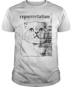 Taylor Swift White Cat Reputation Shirt