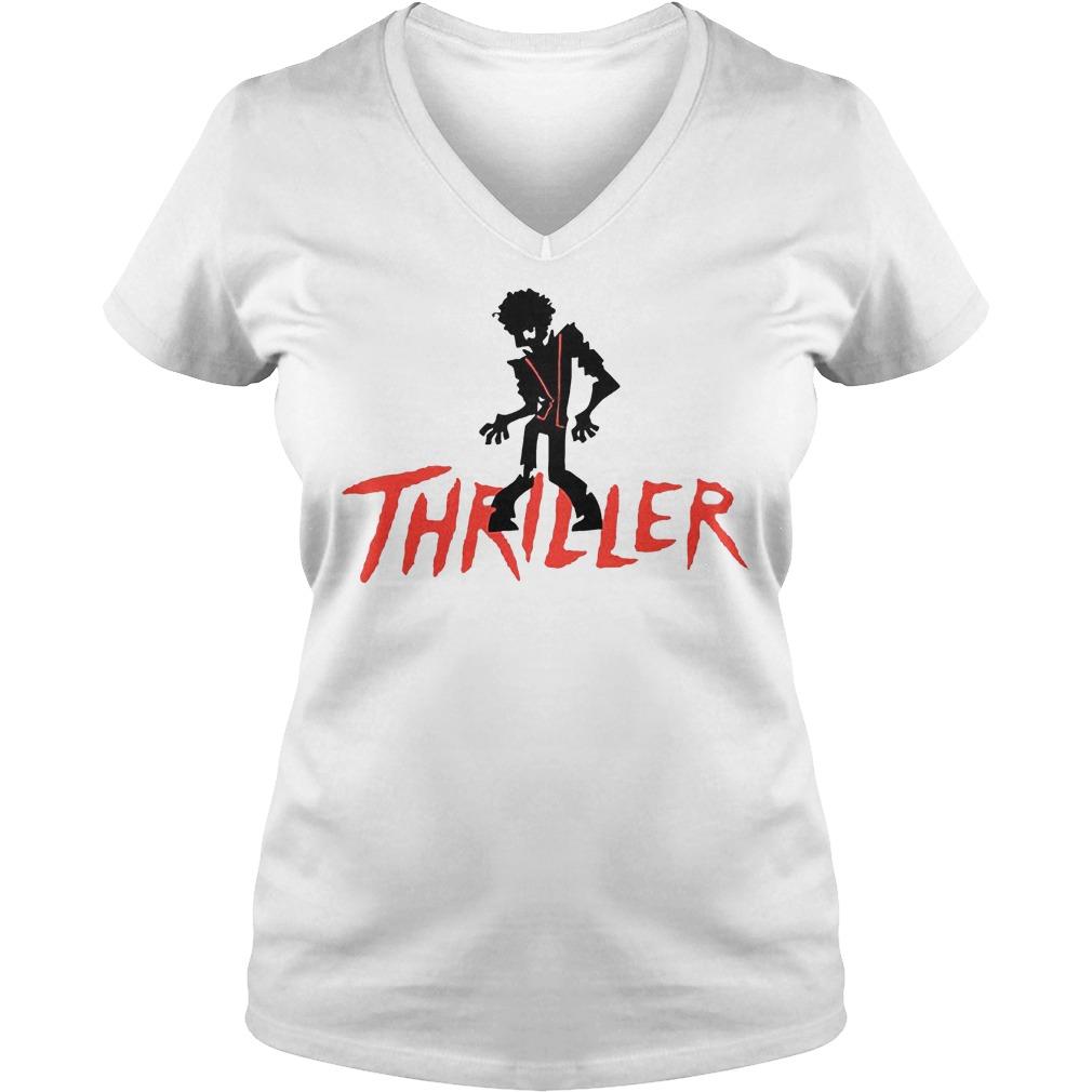 Thriller Zoombie shirt Ladies V-Neck