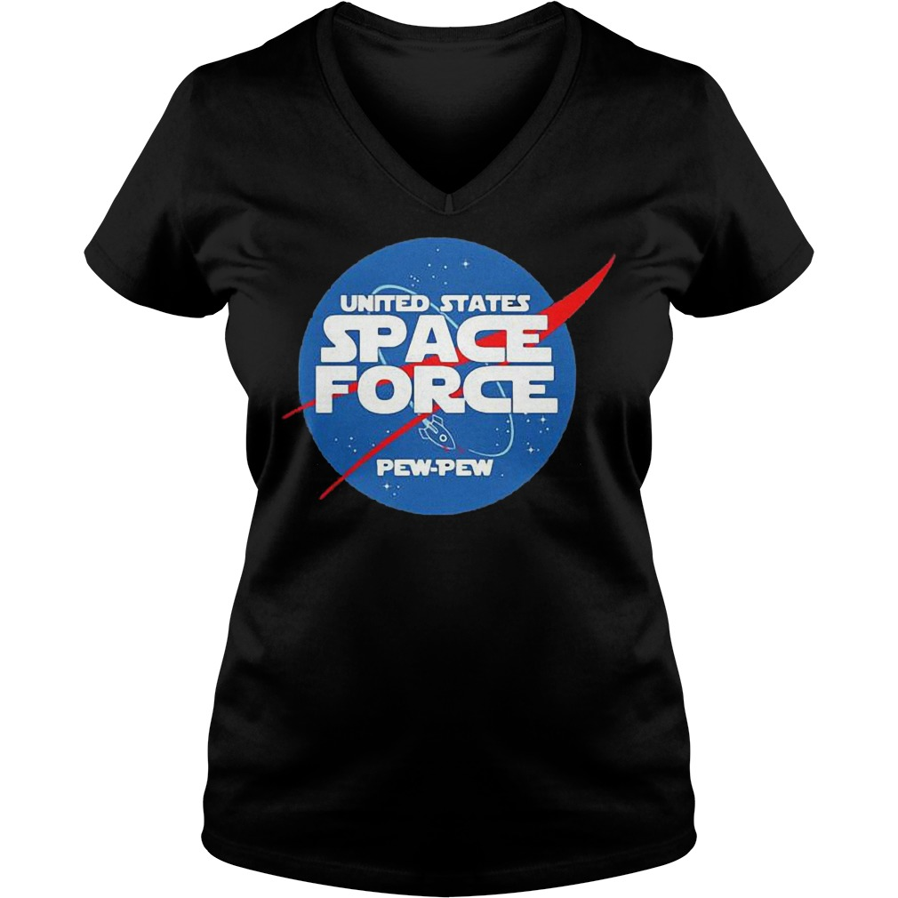 United States Space Force Pew Pew shirt Ladies V-Neck