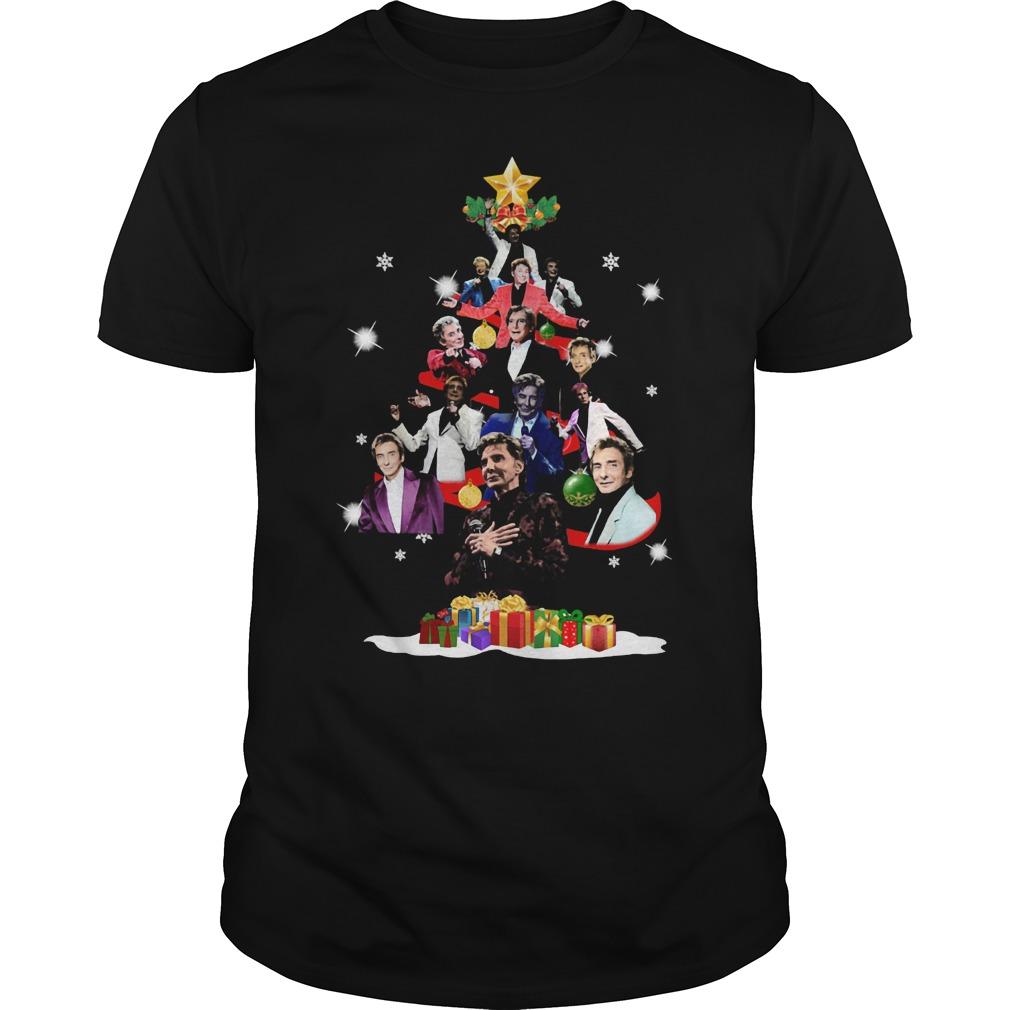Barry Manilow christmas tree shirt