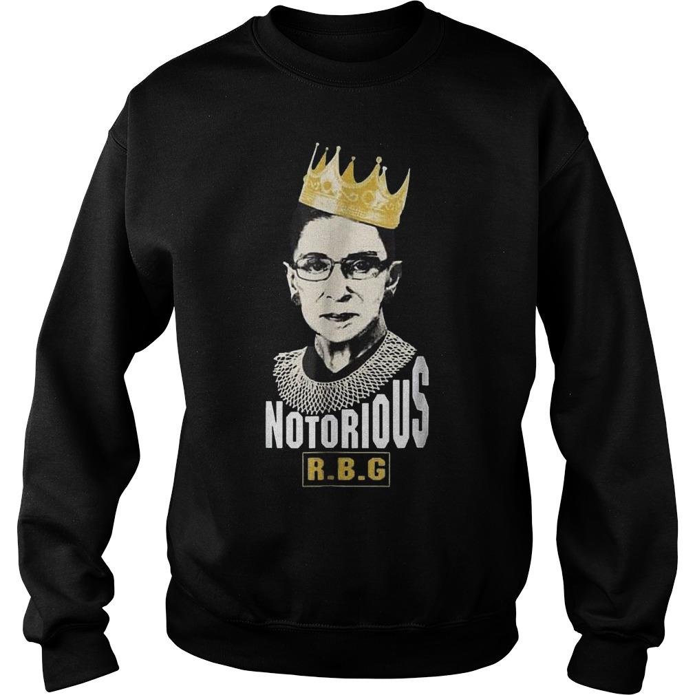 Notorious RBG Ruth Bader Ginsburg shirt Sweatshirt Unisex