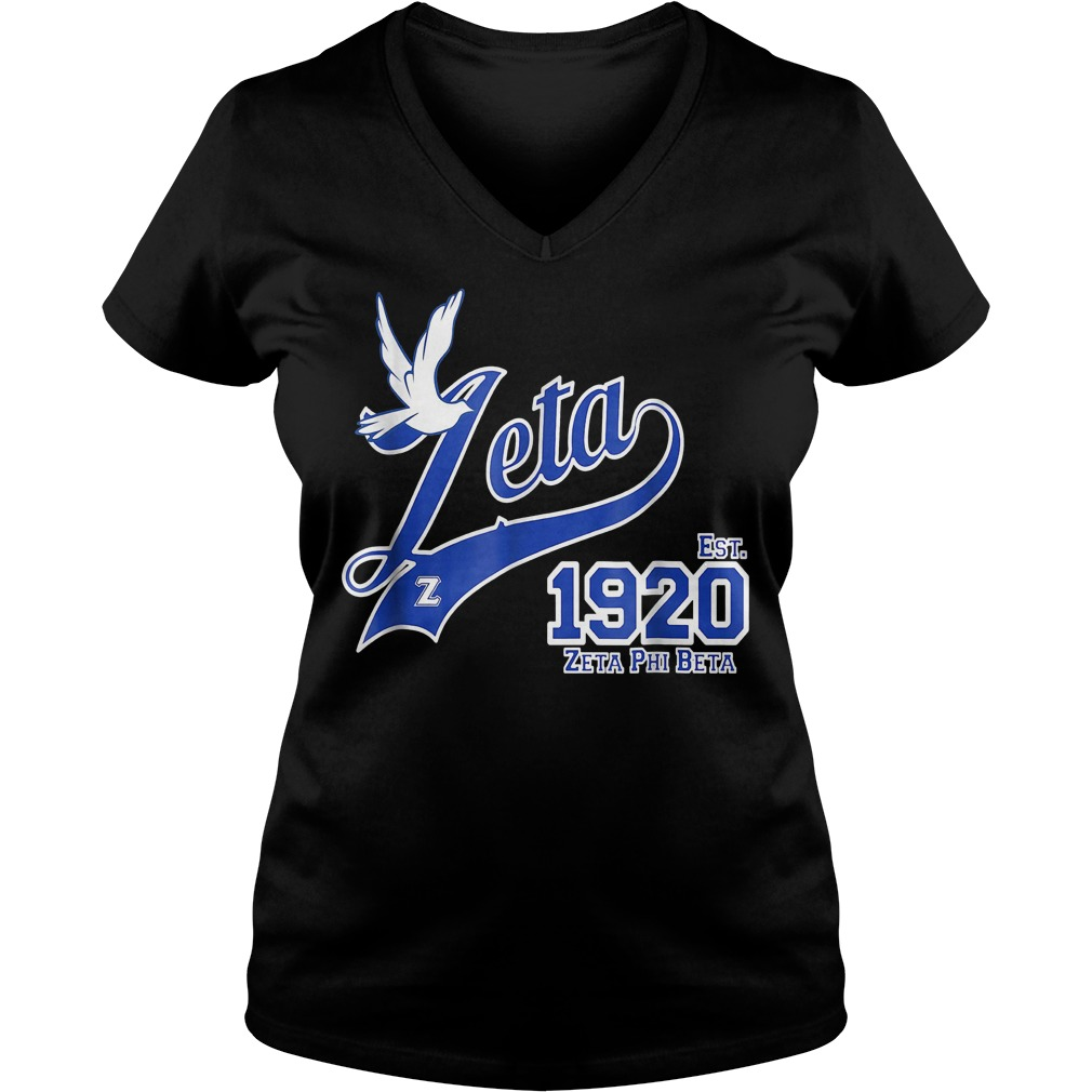 Zeta Phi Beta shirt Ladies V-Neck