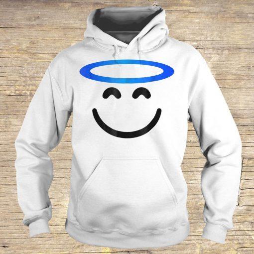Angel Smiling Emoji Funny Halloween Costume Shirt Hoodie.jpg