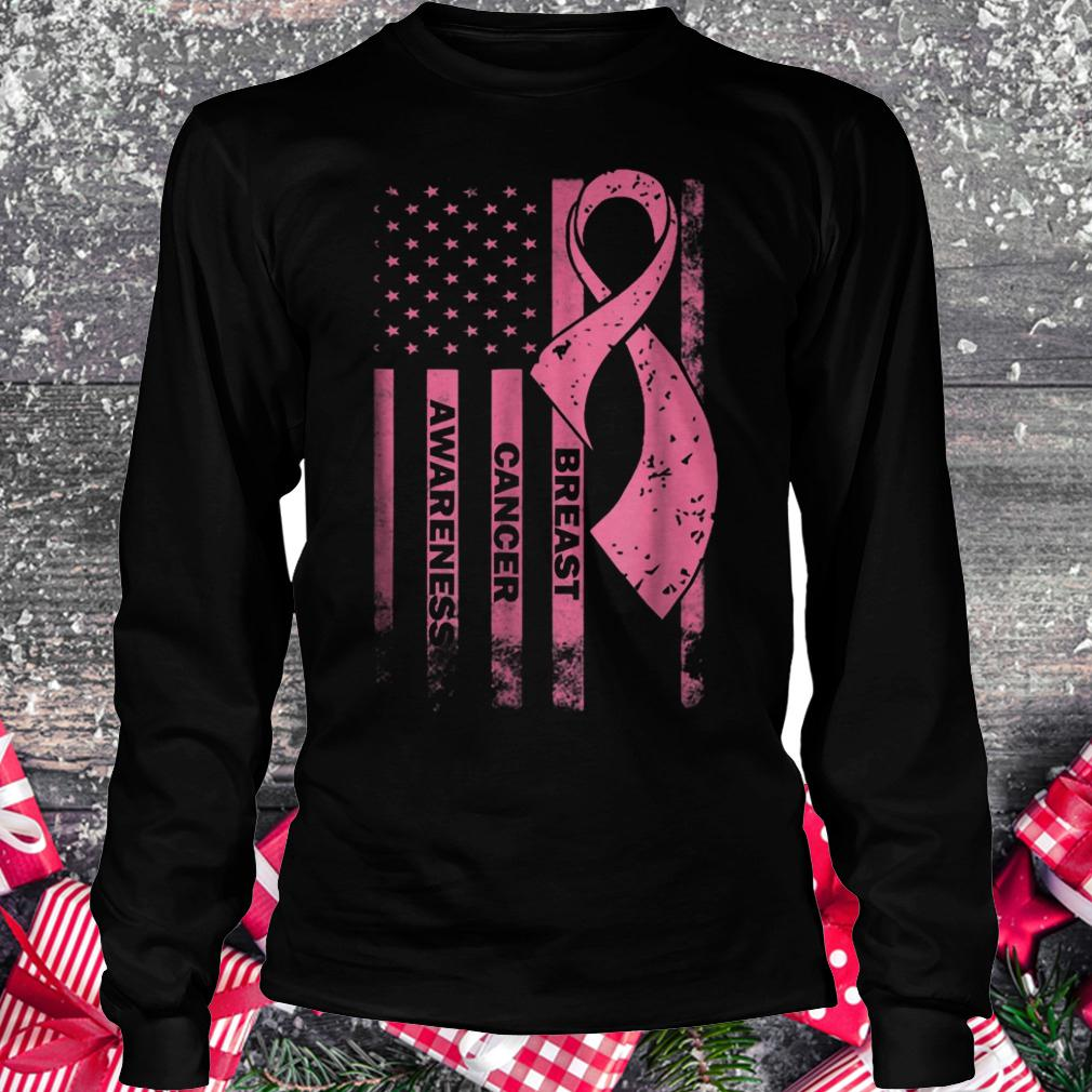 Breast cancer awareness shirt Longsleeve Tee Unisex