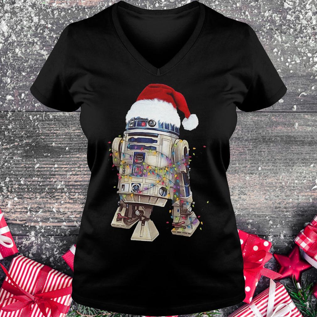 Christmas Artoo Detoo Star Wars shirt Ladies V-Neck