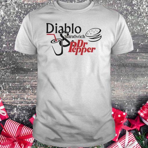 Diablo sandwich and Dr Pepper shirt
