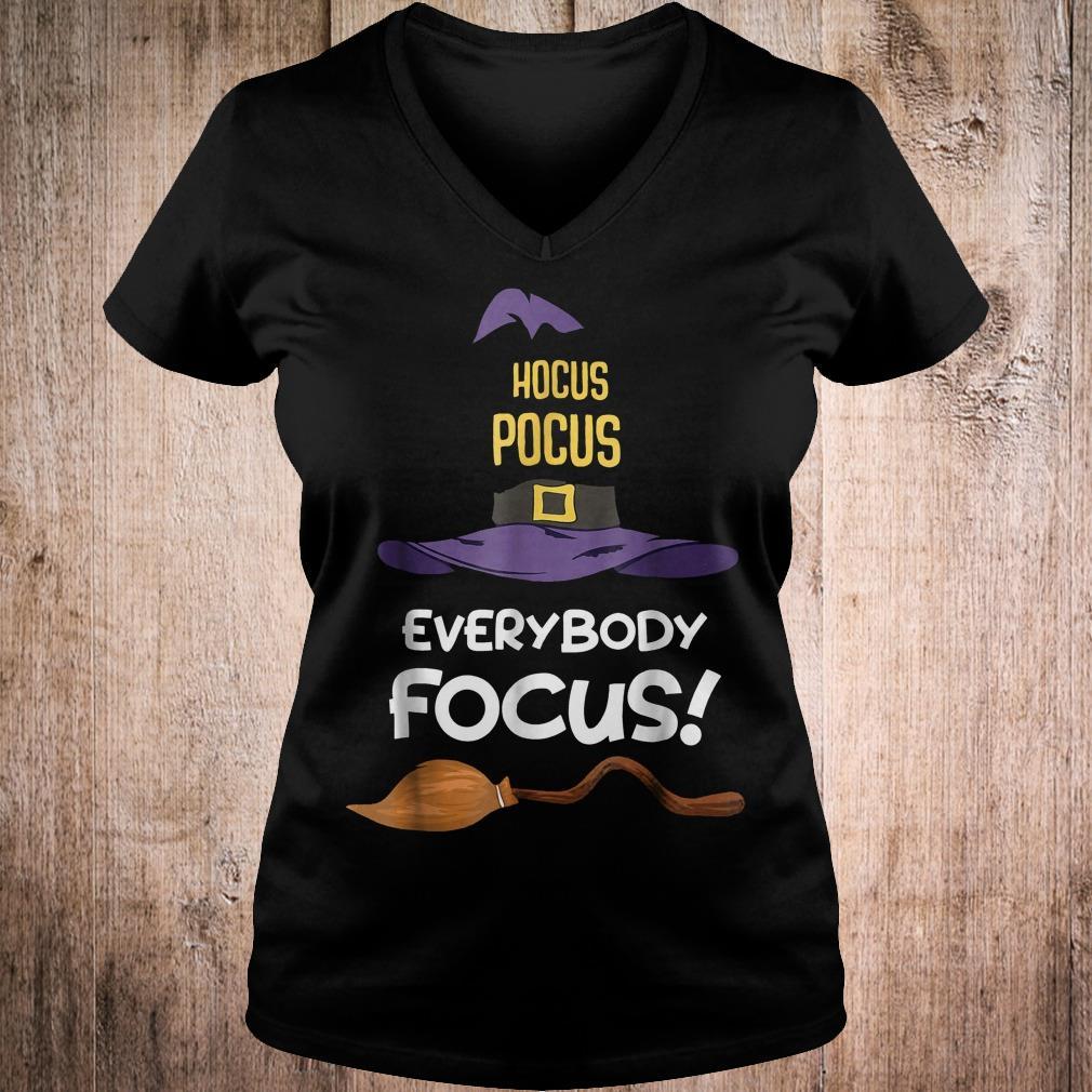 Hocus Pocus everybody focus shirt Ladies V-Neck