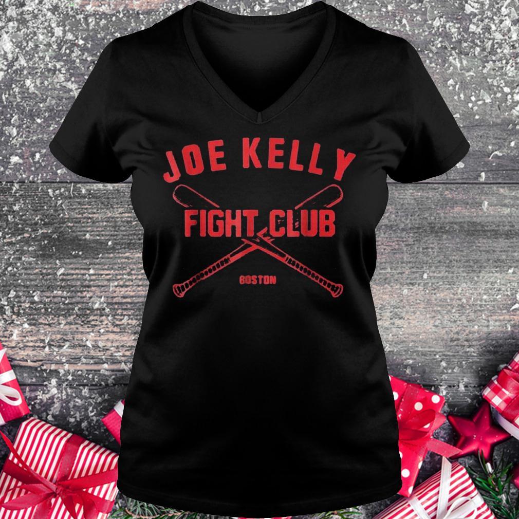 Joes Kelly fights club Boston shirt Ladies V-Neck