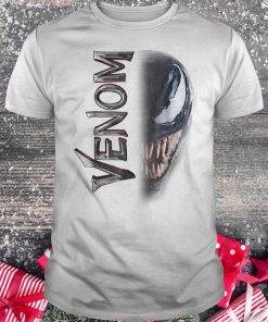 Marvel venom split down the middle Grin shirt