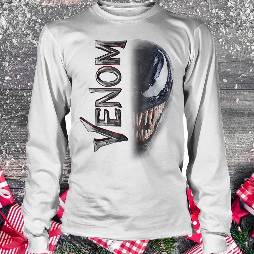 Marvel venom split down the middle Grin shirt Longsleeve Tee Unisex