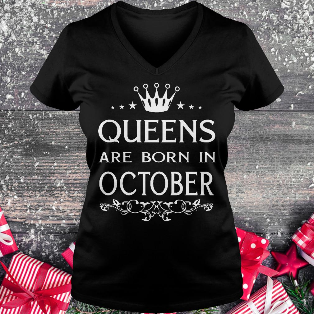 476c9ff19 Premium Christmas Presents Tank-top, Ladies Tee, V-neck, Queens are born in october  shirt for Boy and Girl