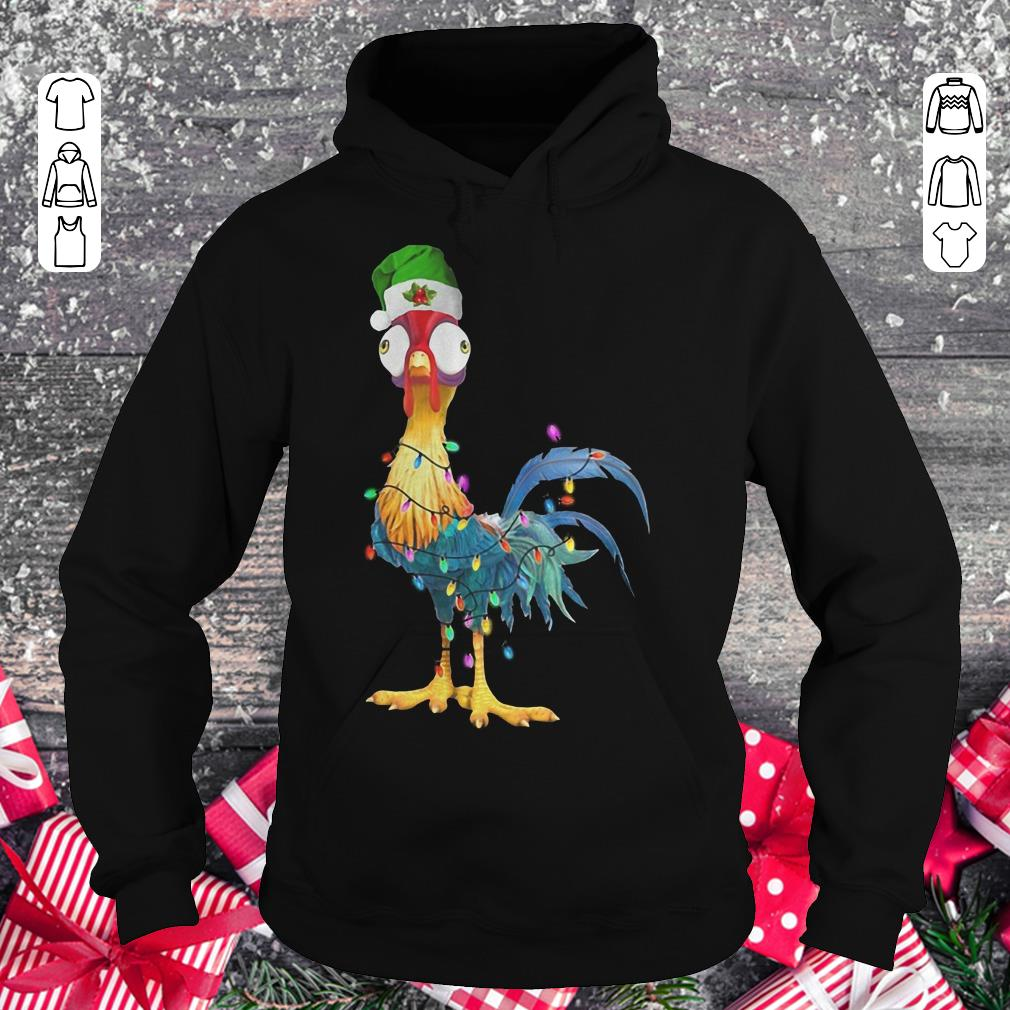 Awesome Chicken Hei Hei Christmas light shirt longsleeve Hoodie