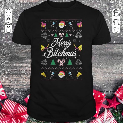Awesome Merry Bitchmas Sweater Shirt Classic Guys Unisex Tee 1.jpg