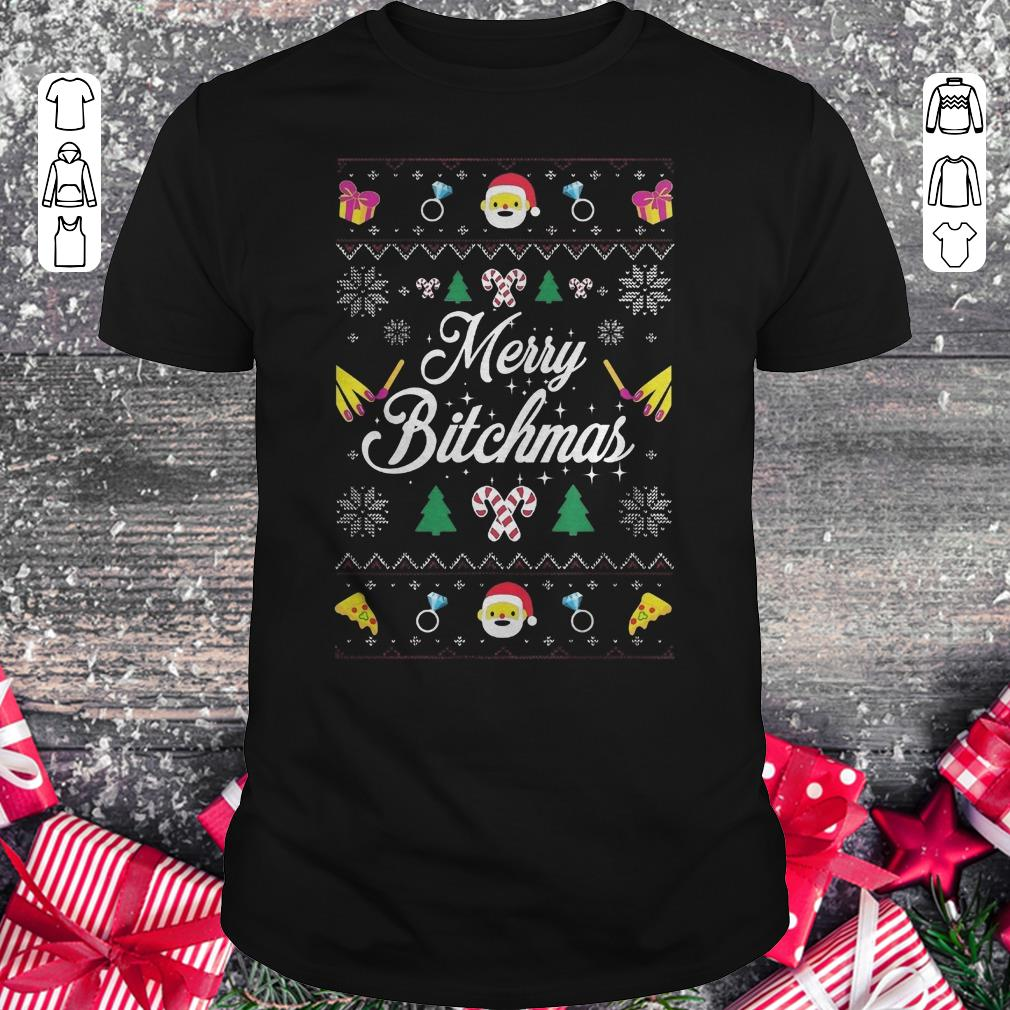 Awesome Merry Bitchmas Sweater Shirt Classic Guys Unisex Tee 1.jpg