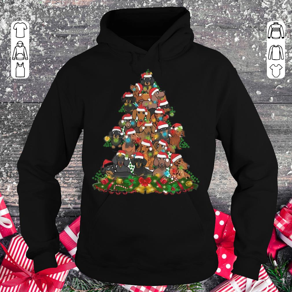 Funny Dachshunds Christmas Tree shirt Hoodie