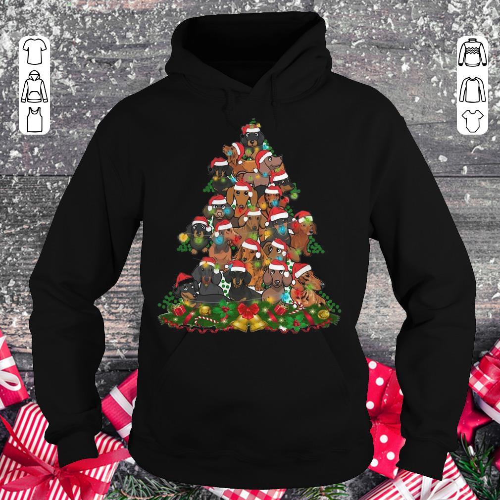 Funny Dachshunds Christmas Tree shirt Hoodie