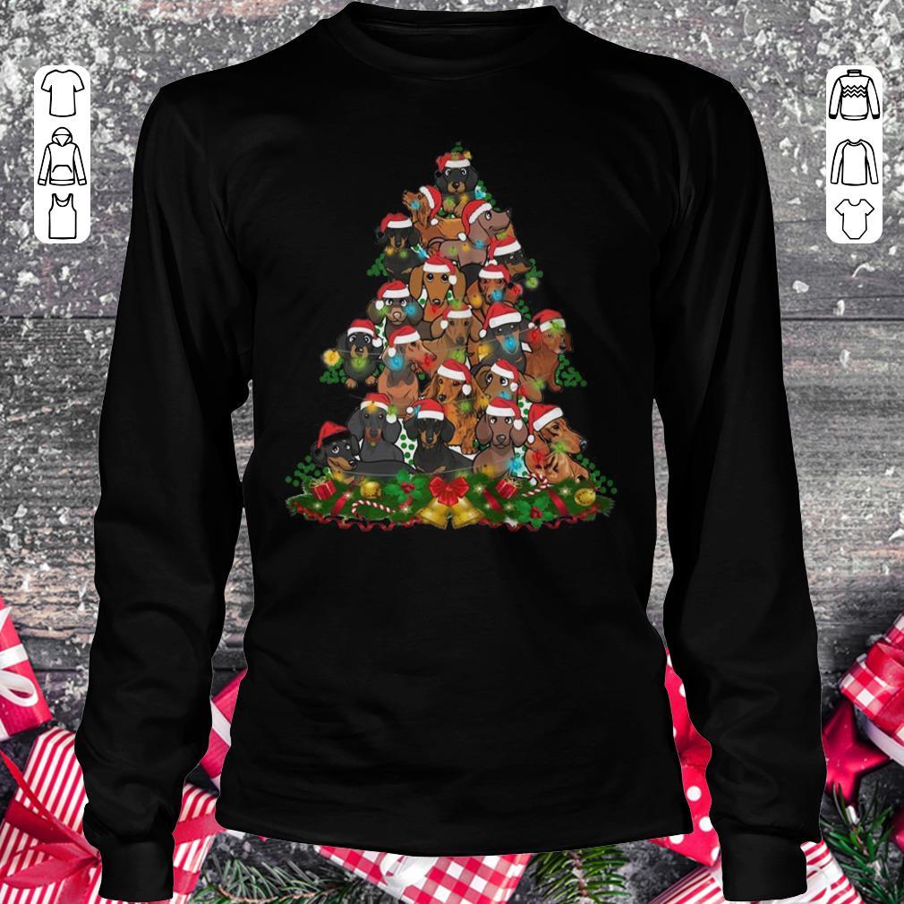 Funny Dachshunds Christmas Tree shirt Longsleeve Tee Unisex