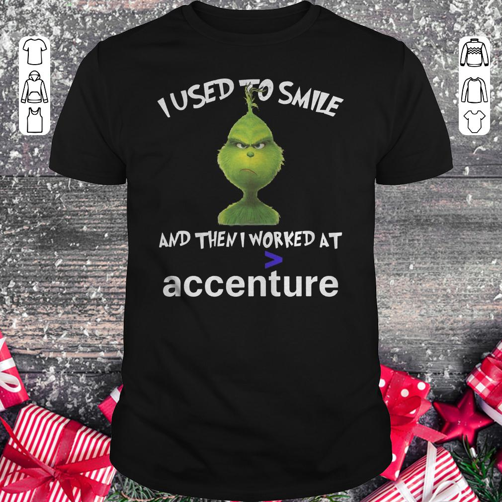 Grinch I used to smile and then i worked at accenture shirt Classic Guys / Unisex Tee