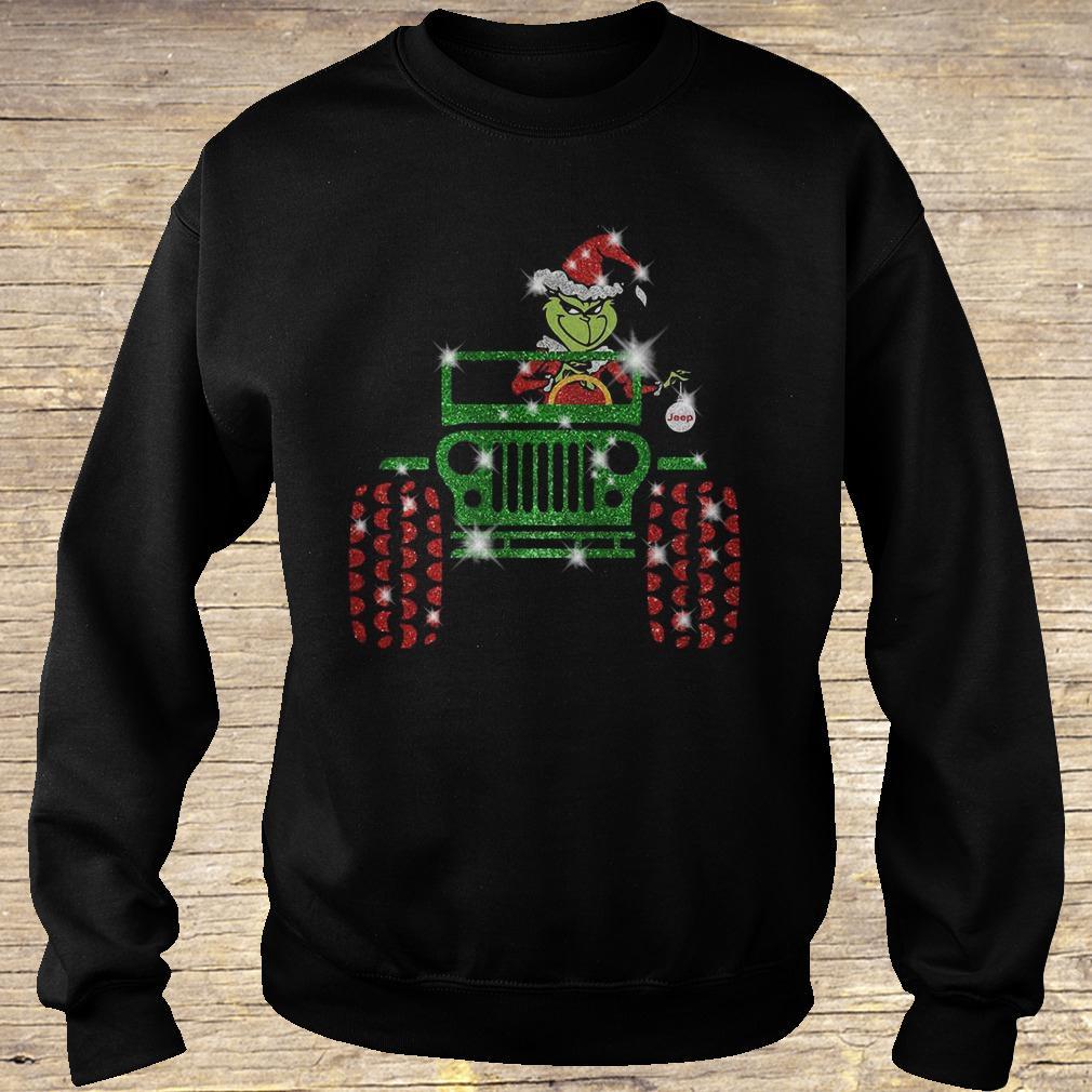 Grinch Jeep sparkly glitter shirt