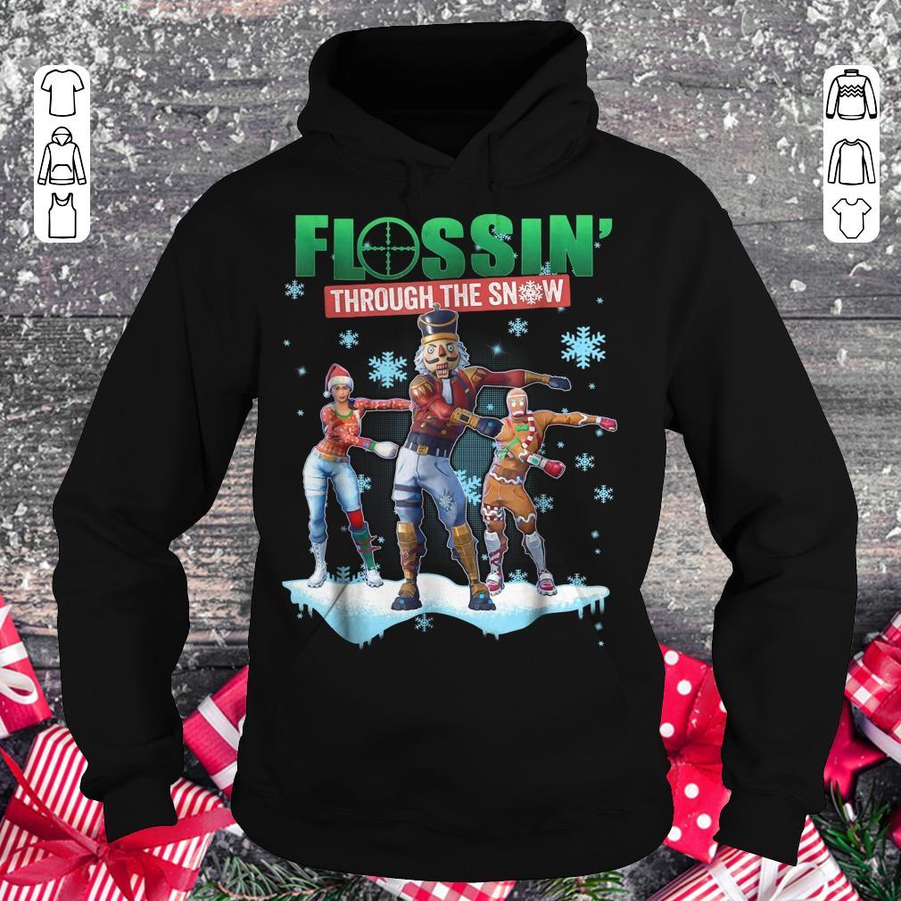 Hot Fortnite Flossin Through the snow shirt Hoodie