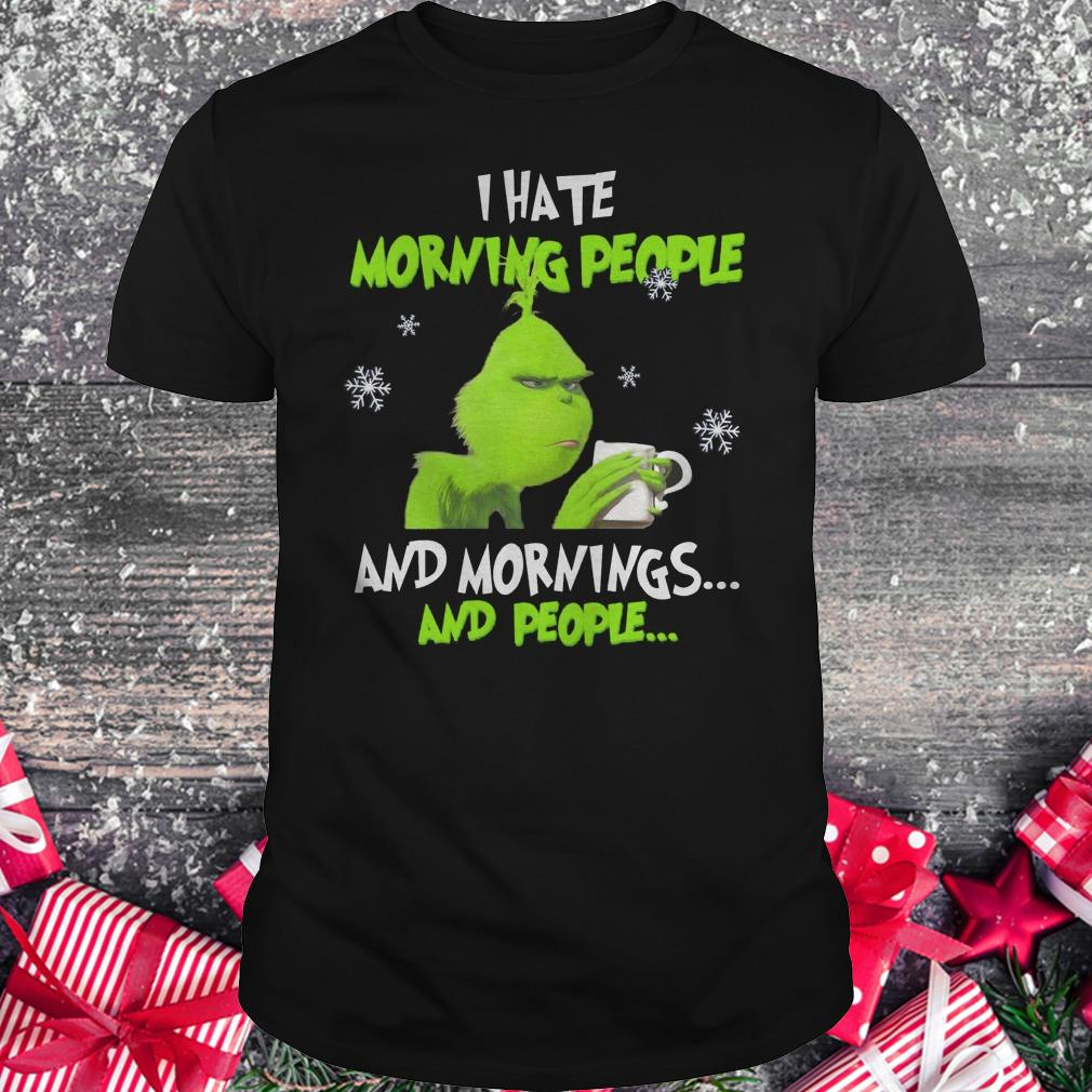 Hot Grinch I hate morning people shirt Classic Guys / Unisex Tee