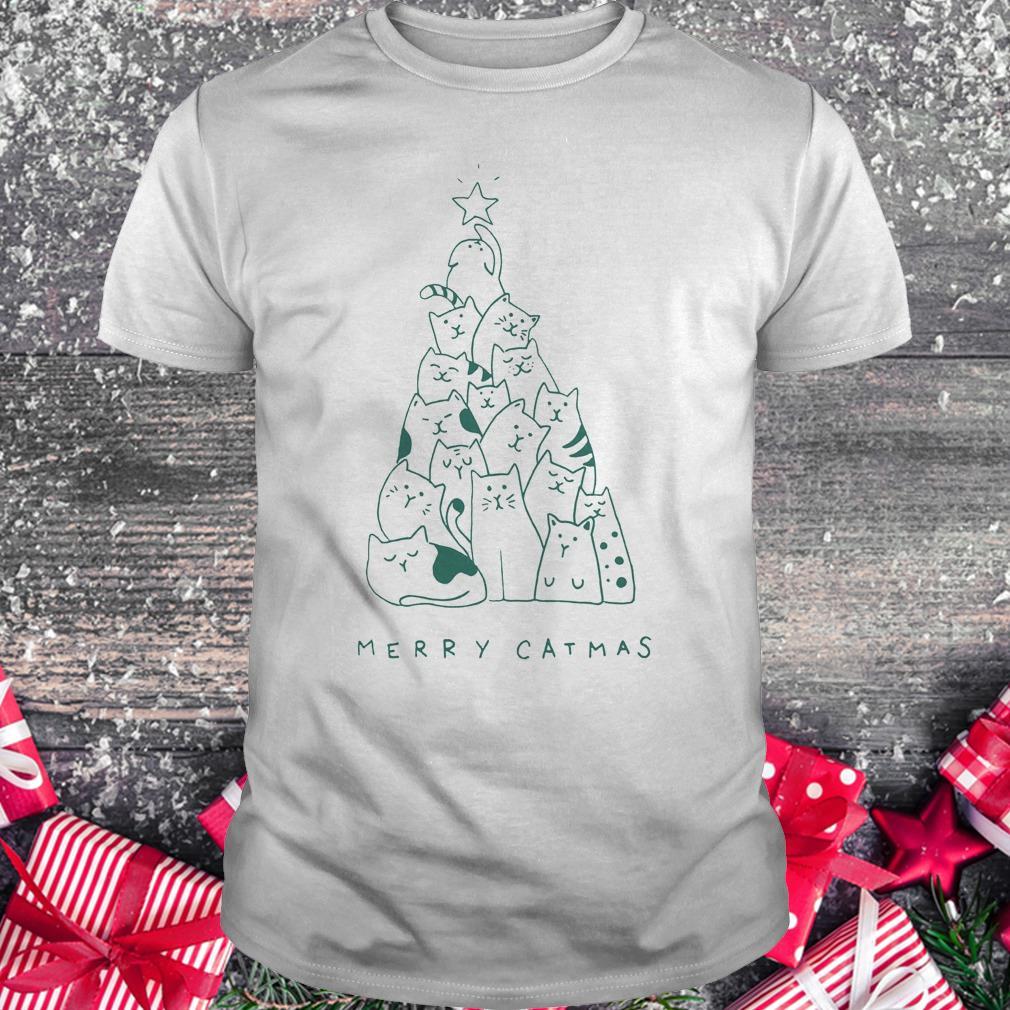 Hot Merry catmas shirt Classic Guys / Unisex Tee