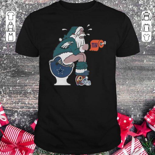 Hot Philadelphia Eagles Santa Dallas Cowboys Toilet Shirt Classic Guys Unisex Tee 1.jpg