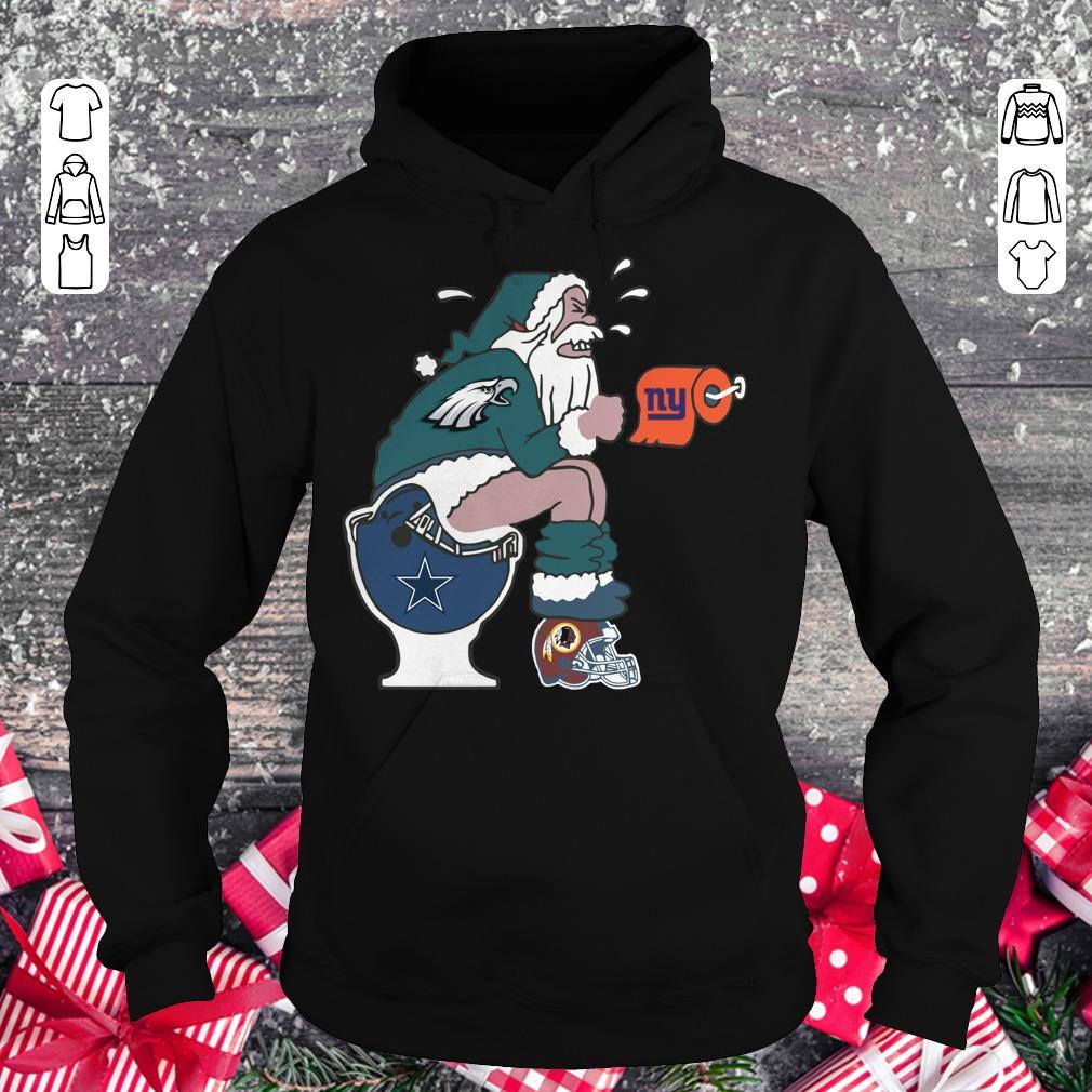 Hot Philadelphia Eagles Santa Dallas Cowboys Toilet shirt Hoodie