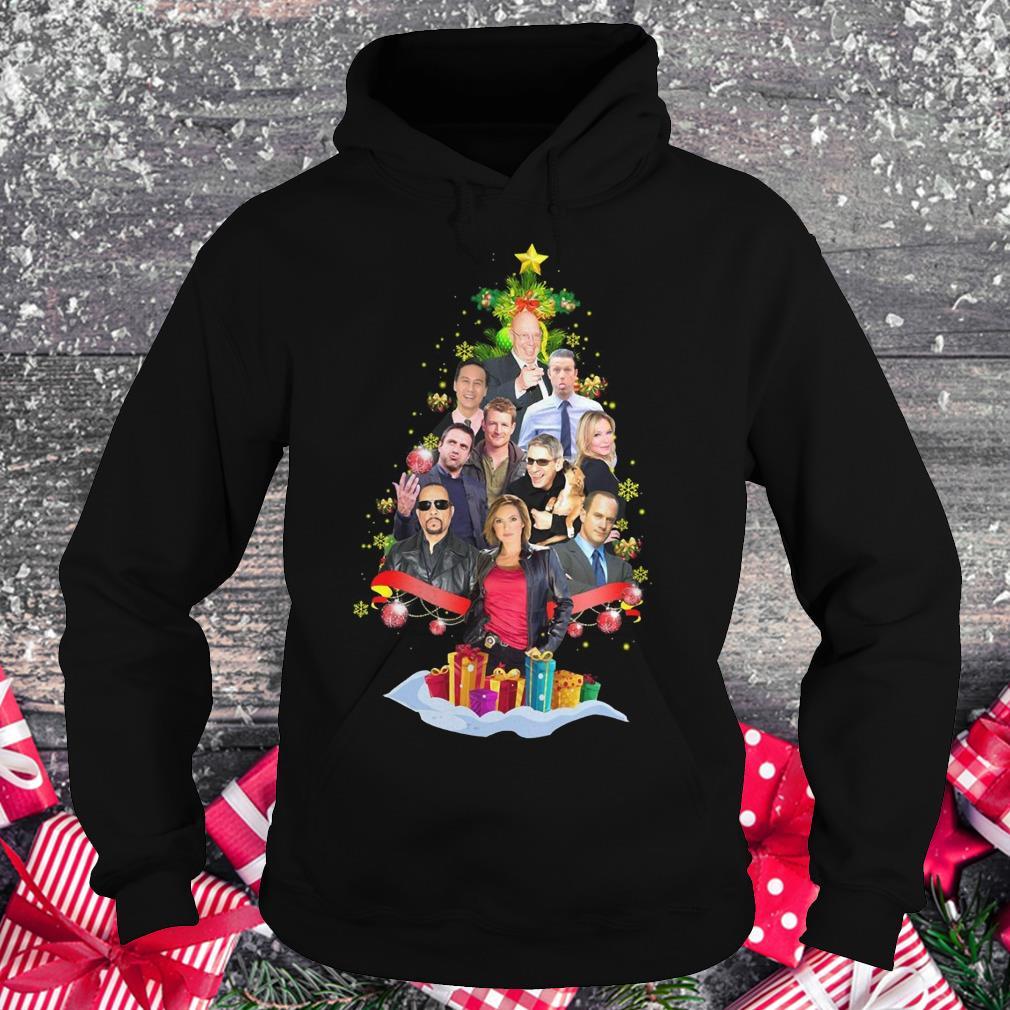 Law Order SVU Fans Christmas Tree shirt