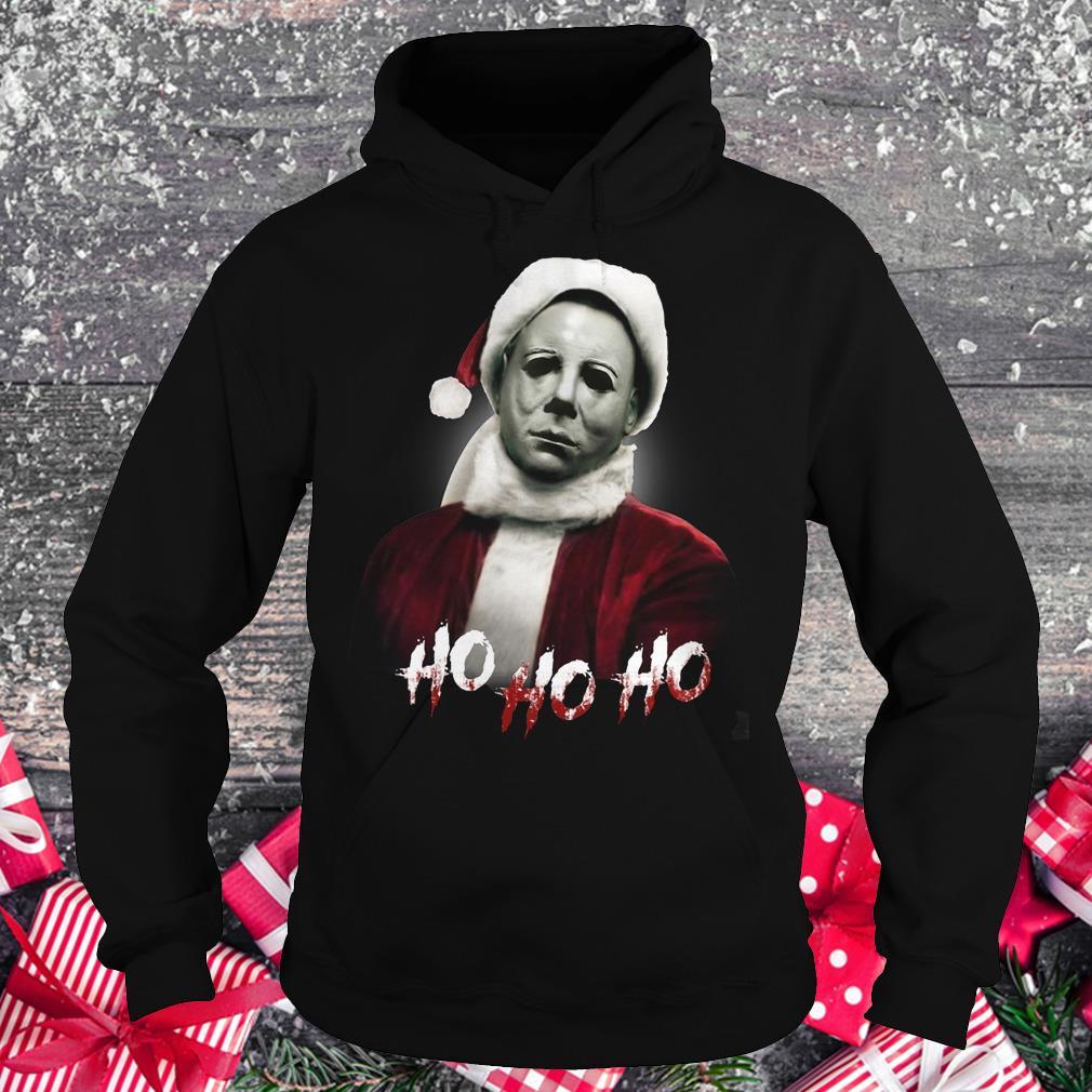 Michael Myers Santa Hat shirt Hoodie