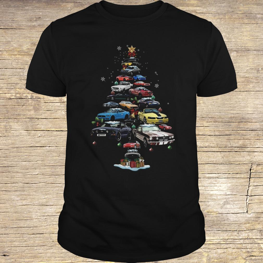 Mustang Car Christmas Tree sweatshirt Classic Guys / Unisex Tee