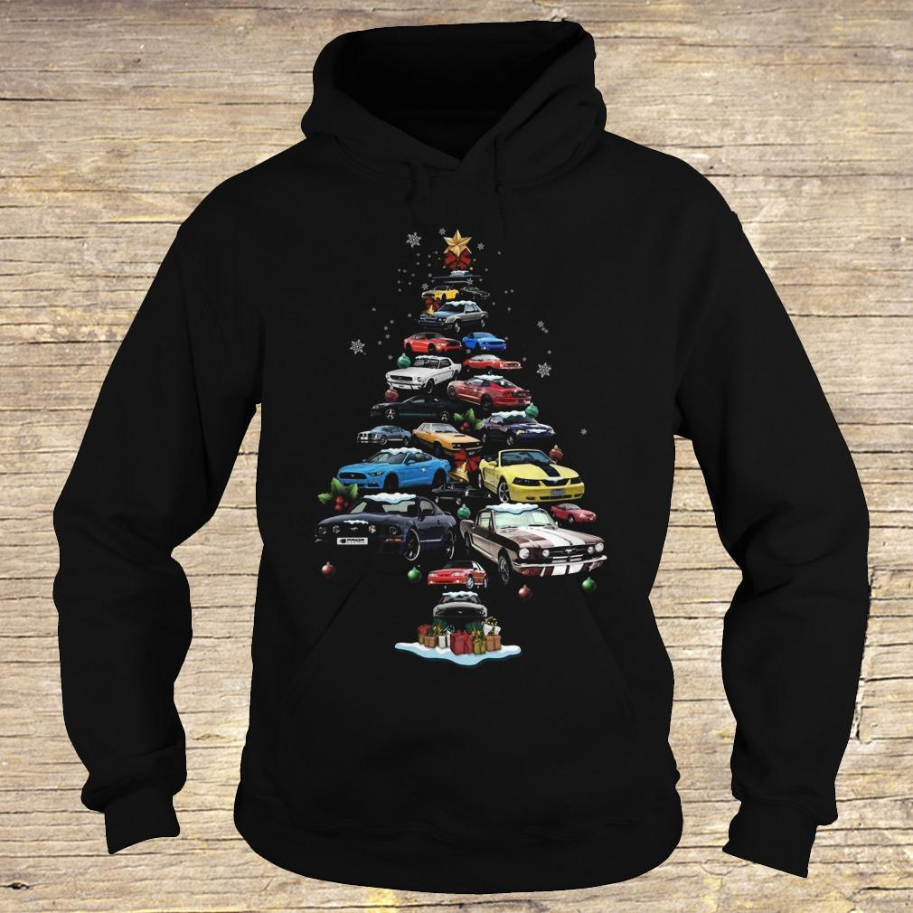 Mustang Car Christmas Tree sweatshirt Hoodie