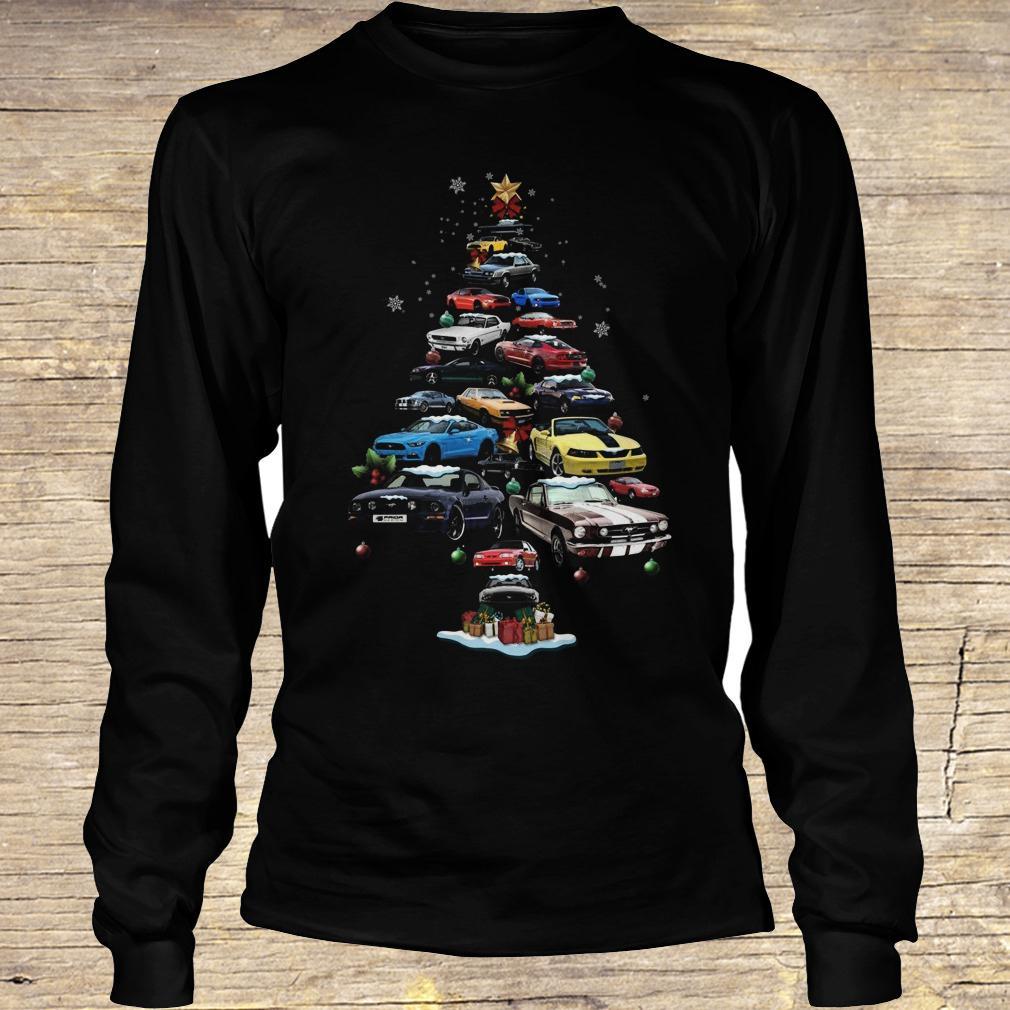 Mustang Car Christmas Tree sweatshirt Longsleeve Tee Unisex