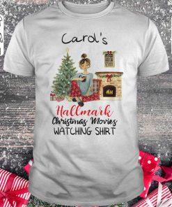 Nice Carol S This Is My Hallmark Christmas Movie Watching Shirt Classic Guys Unisex Tee 1.jpg
