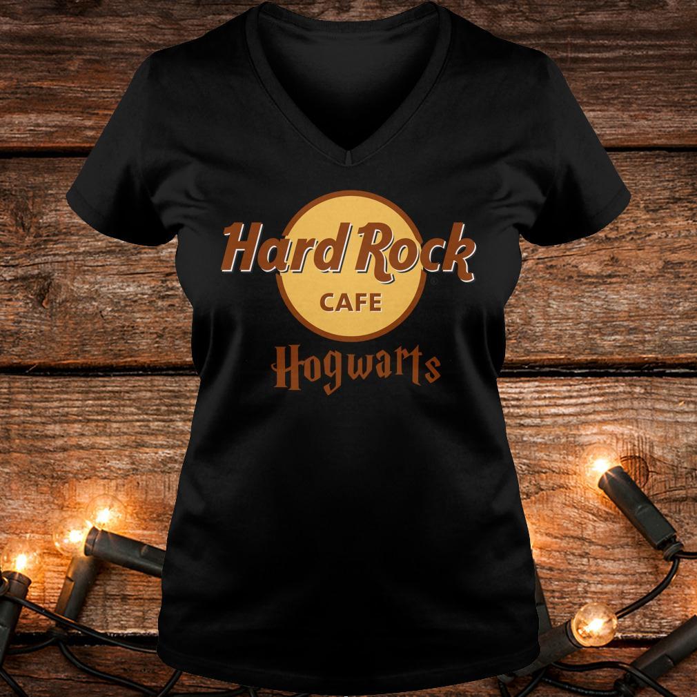 Nice Harry Potter hard Rock cafe Hogwarts shirt Ladies V-Neck