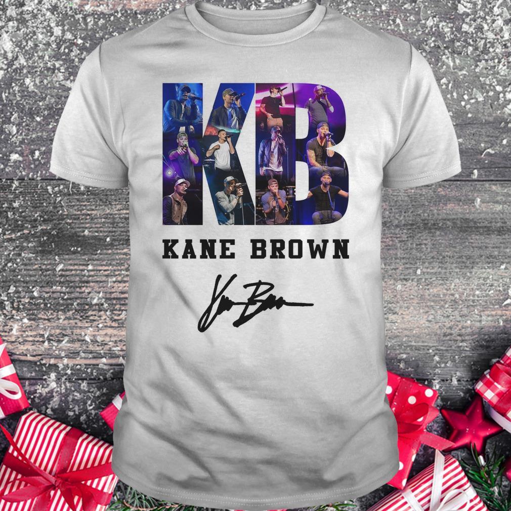 Nice Kane Brown Signed Autograph shirt Classic Guys / Unisex Tee