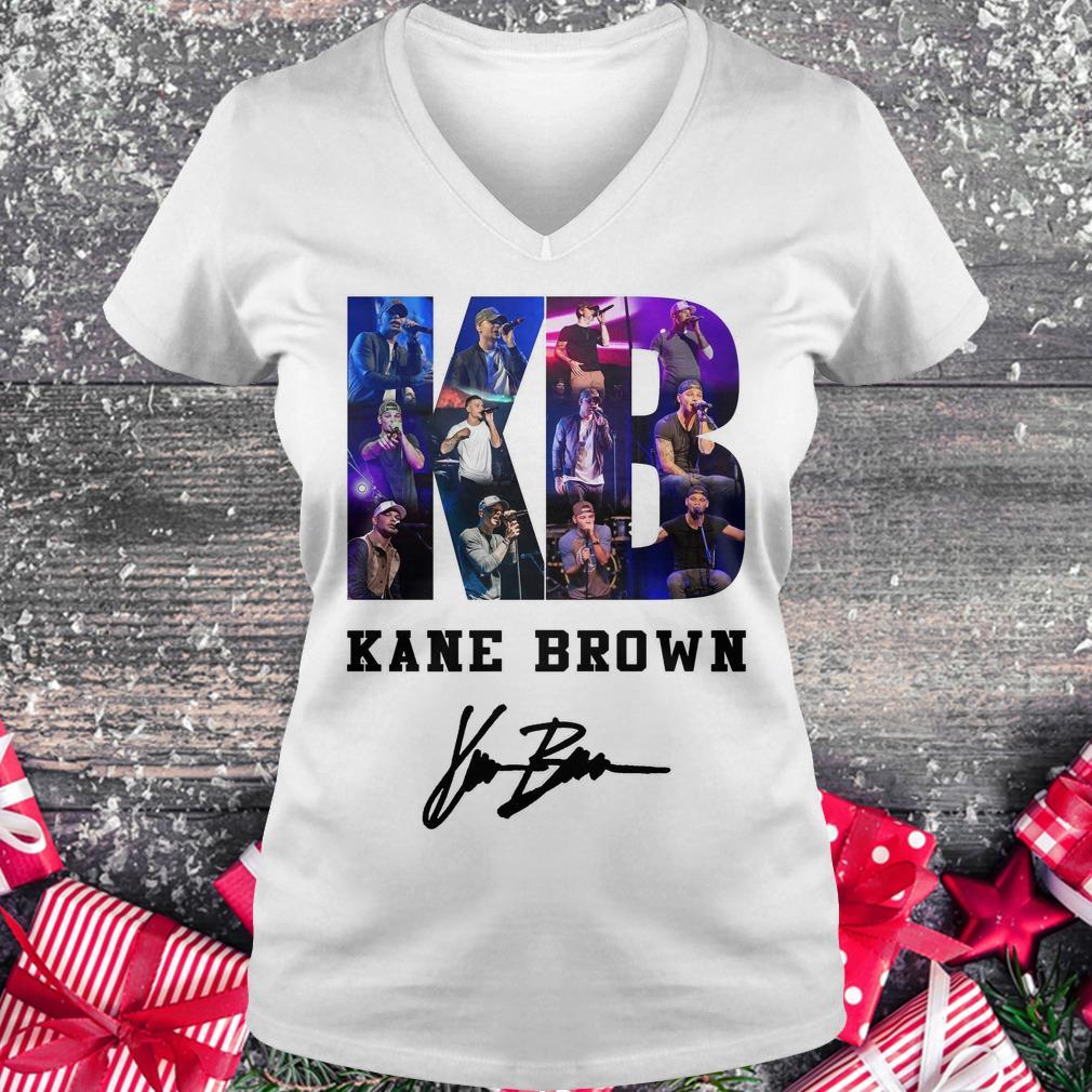 Nice Kane Brown Signed Autograph shirt Ladies V-Neck
