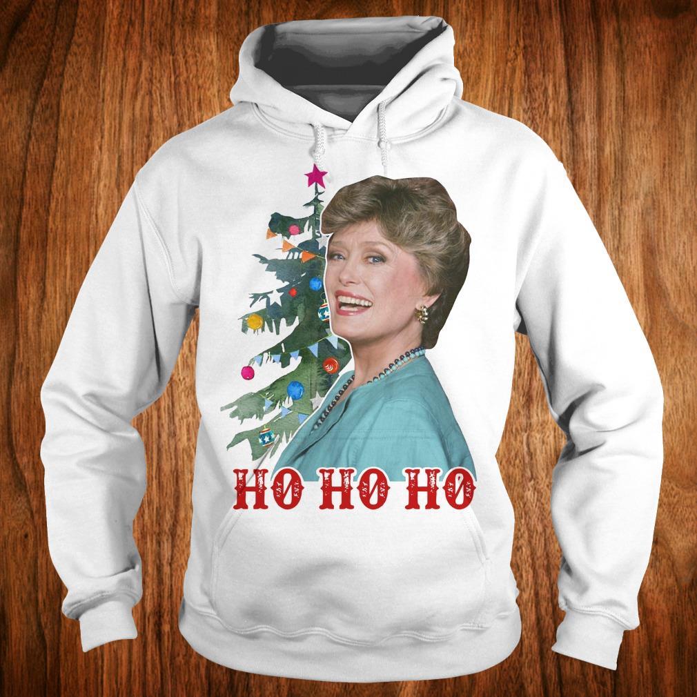 Official Blanche Golden Girls Ho ho ho Merry Christmas shirt Hoodie