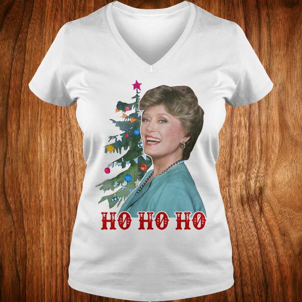 Official Blanche Golden Girls Ho ho ho Merry Christmas shirt Ladies V-Neck