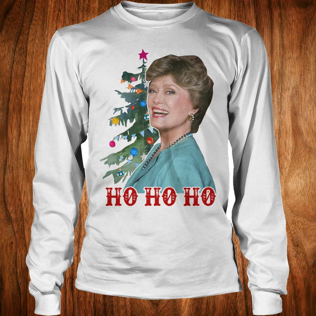 Official Blanche Golden Girls Ho ho ho Merry Christmas shirt Longsleeve Tee Unisex