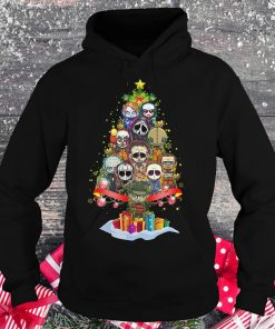 Official Horror characters nightmare christmas tree shirt