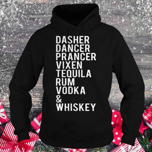 Original Dasher dancer prancer vixen tequila rum vodka whiskey shirt