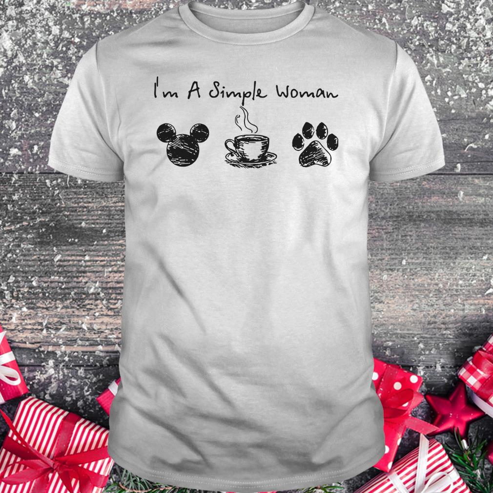 Original I'm a simple woman I like Mickey Minnie Mouse Coffee and Dog shirt Classic Guys / Unisex Tee