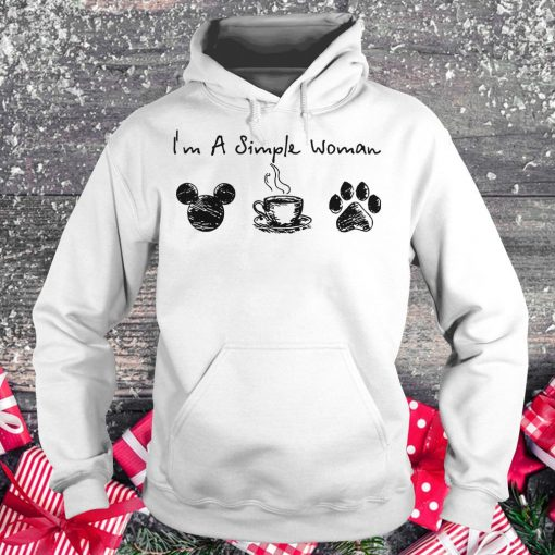 Original I'm a simple woman I like Mickey Minnie Mouse Coffee and Dog shirt