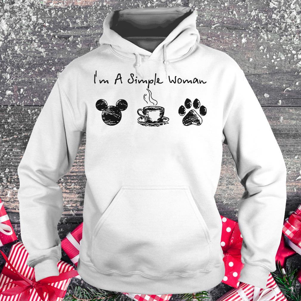 Original I'm a simple woman I like Mickey Minnie Mouse Coffee and Dog shirt