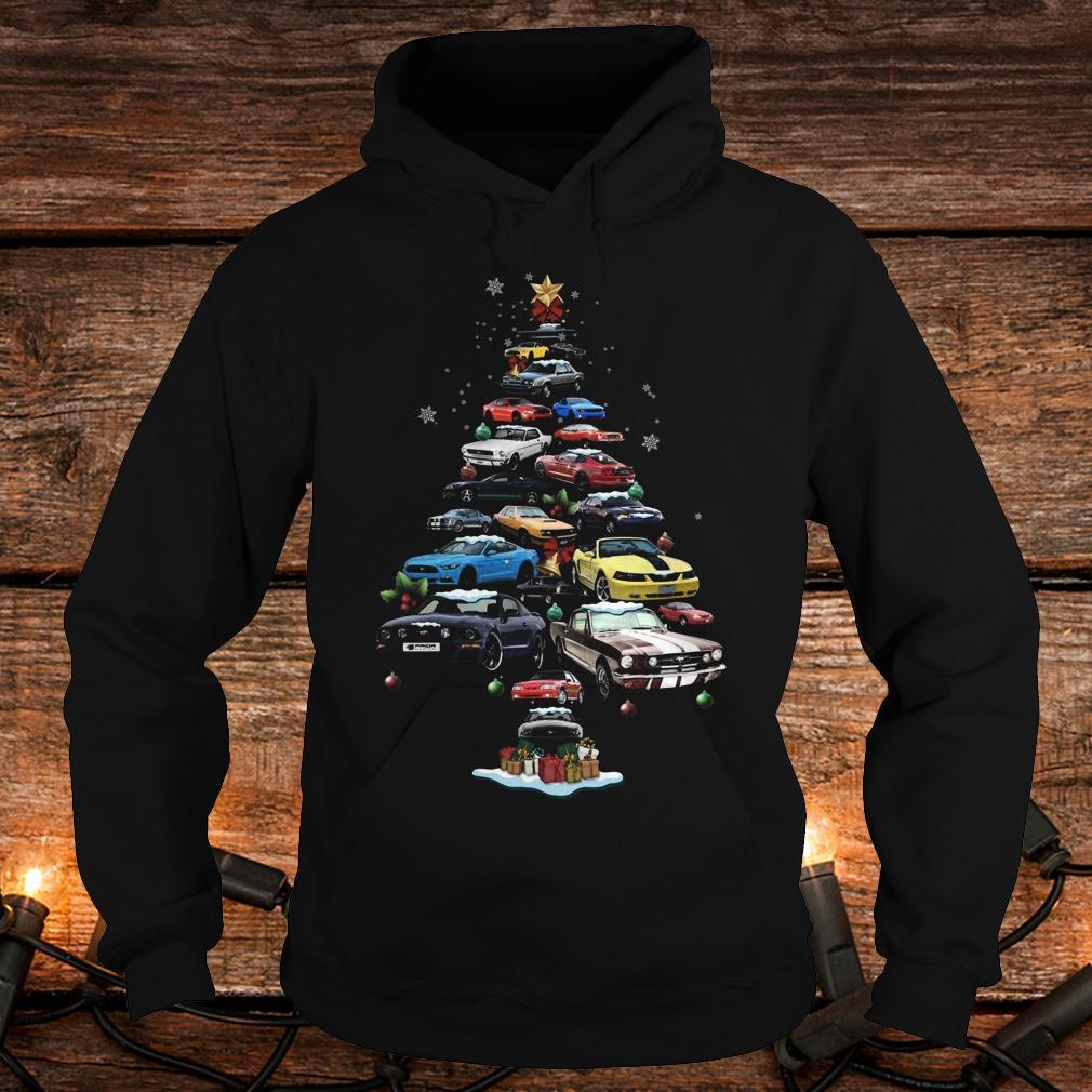 Original Mustang Car Christmas Tree sweatshirt Hoodie