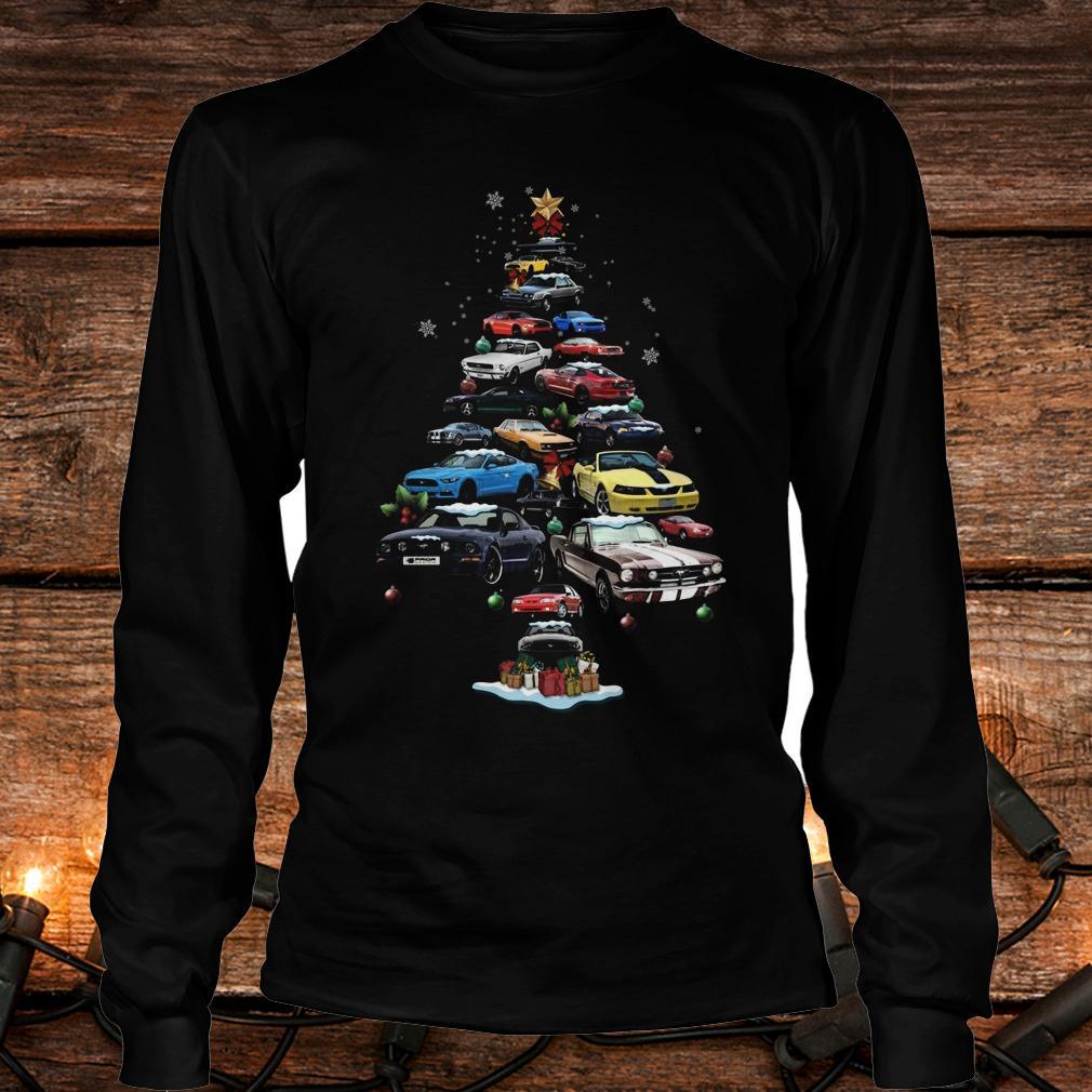 Original Mustang Car Christmas Tree sweatshirt Longsleeve Tee Unisex