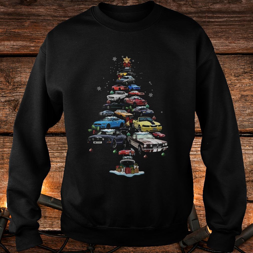Original Mustang Car Christmas Tree sweatshirt Sweatshirt Unisex