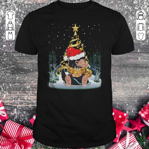 Original Niffler Santa Hat Christmas Tree Under Snow Shirt Classic Guys Unisex Tee 1.jpg