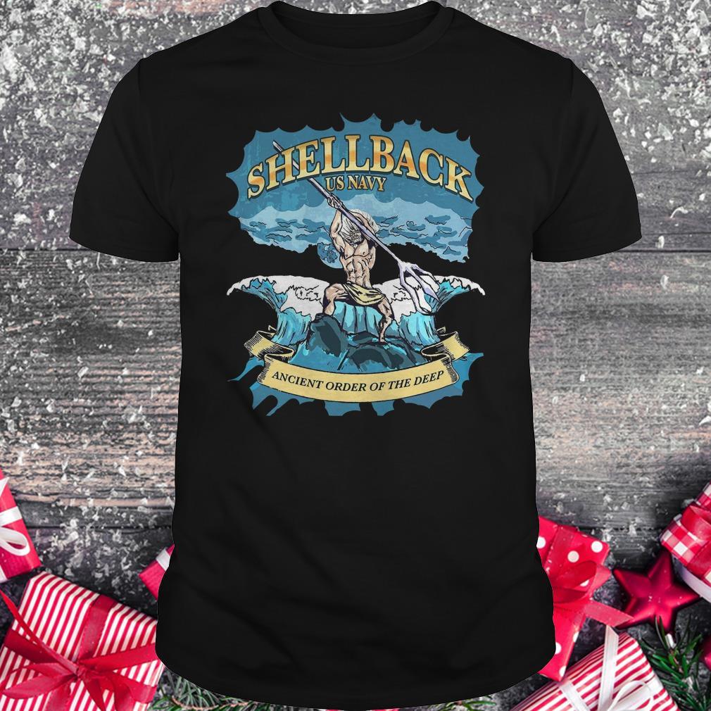 Original Shellback Us Navy Ancient Order Of the deep shirt Classic Guys / Unisex Tee